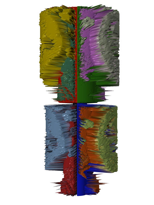 Digital Art Canvas Prints Digital Art - Bart Simpsons Spine by Robert Margetts