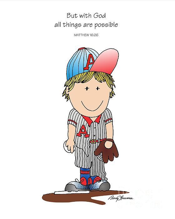 Baseball Painting - Baseball by Barry Louwerse