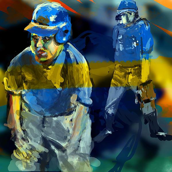 Baseball Digital Art - Baseball Stances  by James Thomas