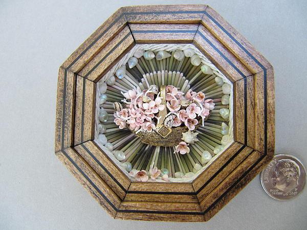 Basket Relief - Basket Of Pinks by Brenda Berdnik