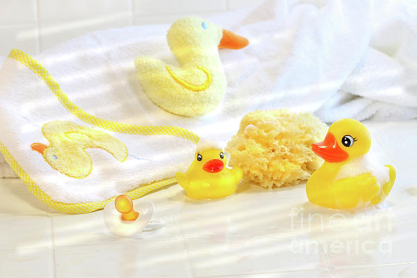 Water Photograph - Bathtime For Baby by Sandra Cunningham