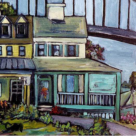 Bridges Painting - Bayard House In Chesapeake City by Carol Mangano