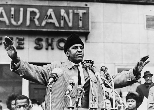 History Photograph - Bayard Rustin 1912-1987, Speaking by Everett