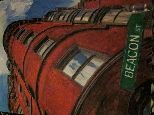 Boston Painting - Beacon St by David Poyant