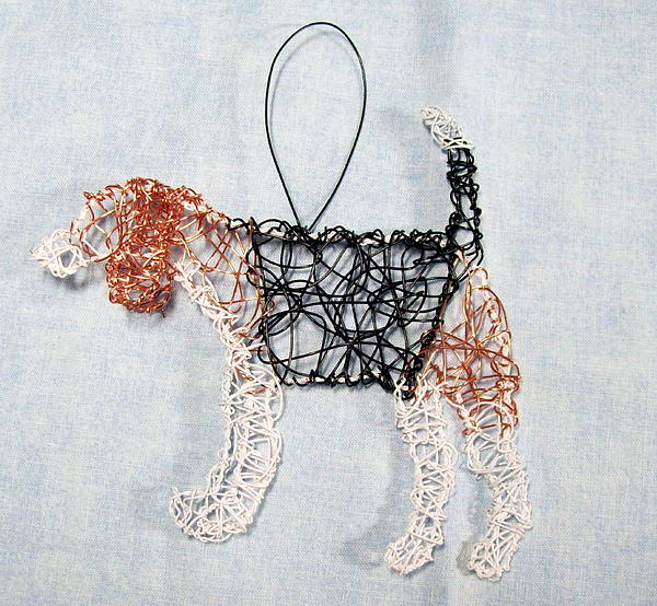 Dog Sculpture - Beagle Ornament by Charlene White