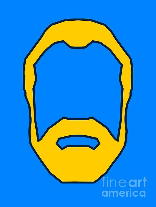 Face Digital Art - Beard Graphic  by Pixel Chimp