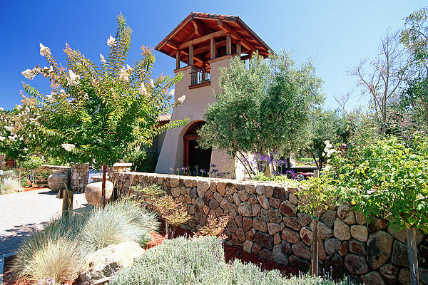 Scenic Photograph - Bell Tower Of St Francis Winery by George Oze