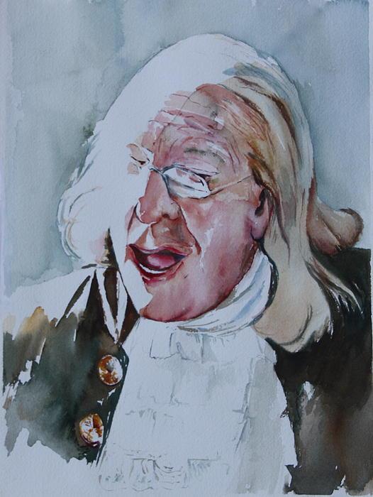 Ben Franklin Painting - Ben Franklin Of Philadelphia by Peg Ott Mcguckin
