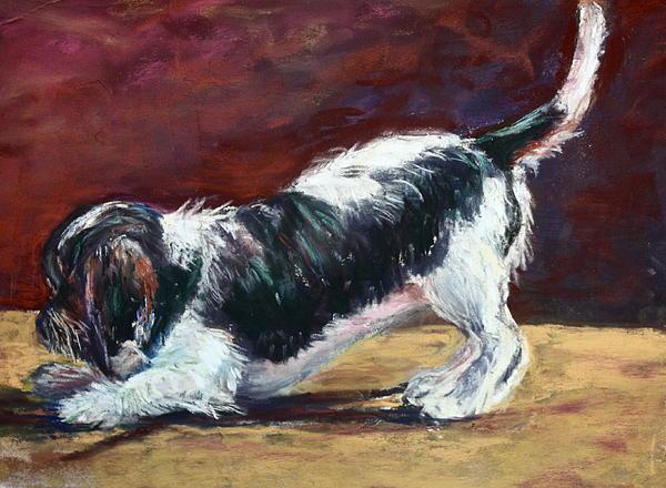 Dogs Pastel - Bentley 2 by Joan Wulff