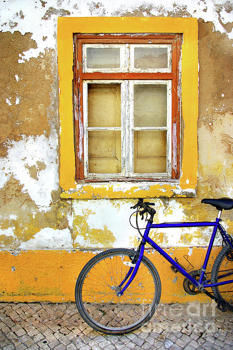 Aged Photograph - Bike Window by Carlos Caetano