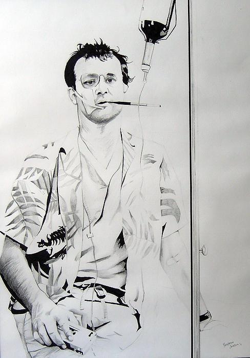 Bill Murray Drawing - Bill Murray From The Movie where The Buffalo Roam by Ben Jackson