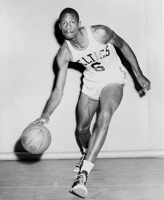 History Photograph - Bill Russell In His Boston Celtics by Everett