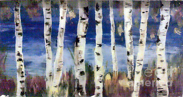 Birch Trees Painting - Birches by Cathy Weaver