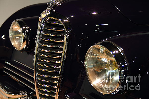 Transportation Photograph - Black 1948 Delahaye . Grille View by Wingsdomain Art and Photography