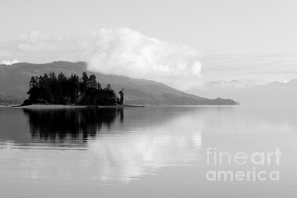 Alaska Photograph - Black And White Island Near Hoonah by Darcy Michaelchuk