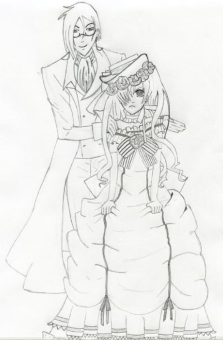 Black Butler Drawing - Black Butler Fan Art by Ashley Rommel