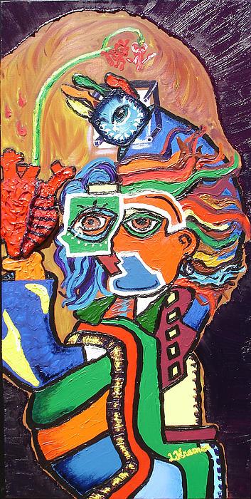 Portaits Painting - Bleeding Heart by Lisa Kramer