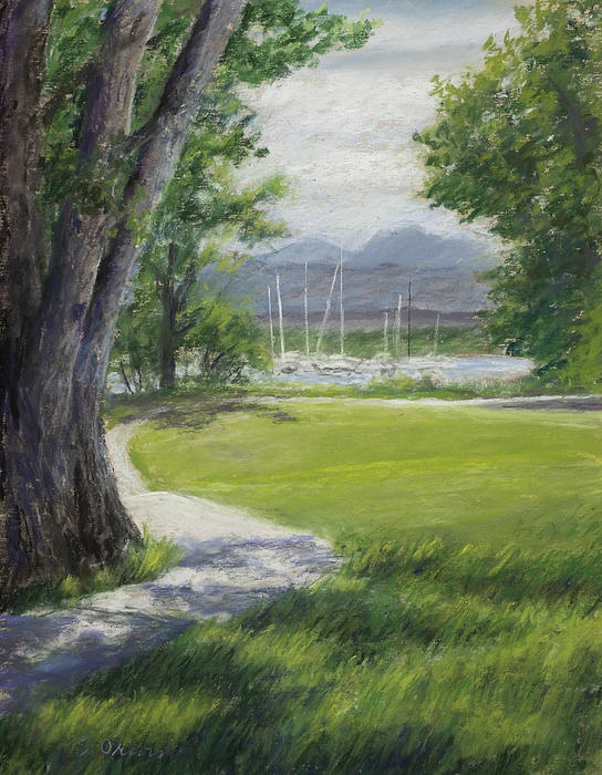 Small Boats Pastel - Blke Trail 1 by Susan Driver