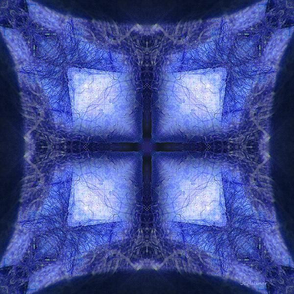 Abstract Digital Art - Blue Crystal by Joe Halinar