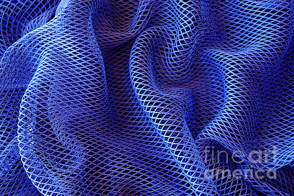Abstract Photograph - Blue Net Background by Carlos Caetano