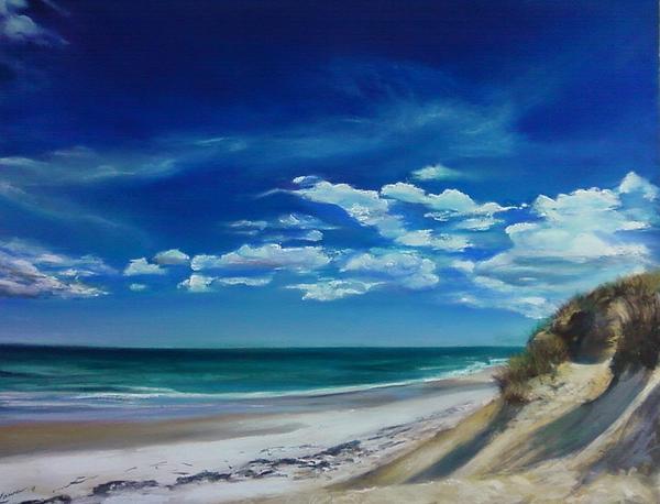 Blue Sky Walk Pastel by Laura Balboni Craciun