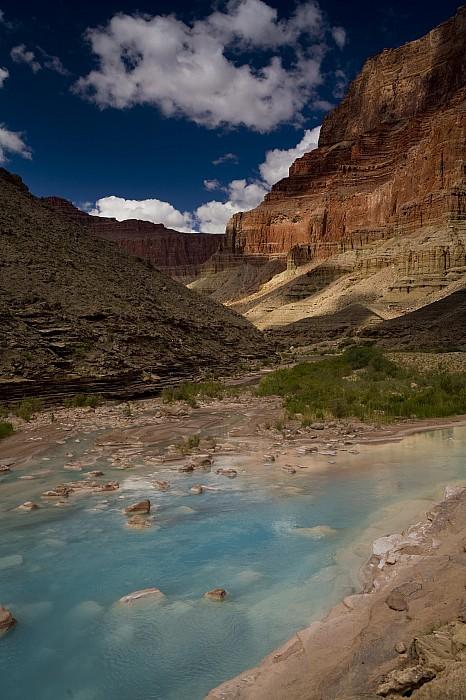Blue Photograph - Blue Water, Travertine, Little Colorado by Ralph Lee Hopkins