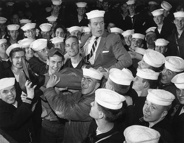Candid Photograph - Bob Hope Entertaining Sailors by Everett