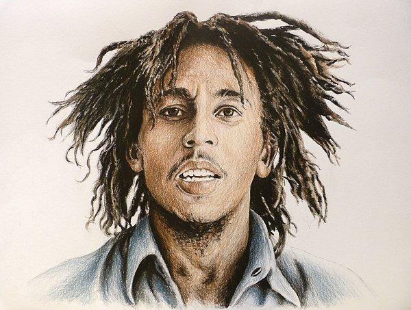 Bob Marley Drawing - Bob Marley by Andrew Read