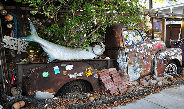 Key West Photograph - B.o.s Fish Wagon - Key West Florida by Bill Cannon