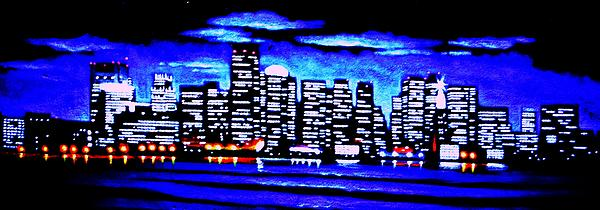 Boston Painting - Boston By Black Light by Thomas Kolendra