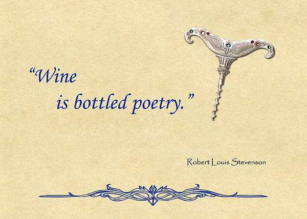 Wine Painting - Bottled Poetry by Elaine Plesser