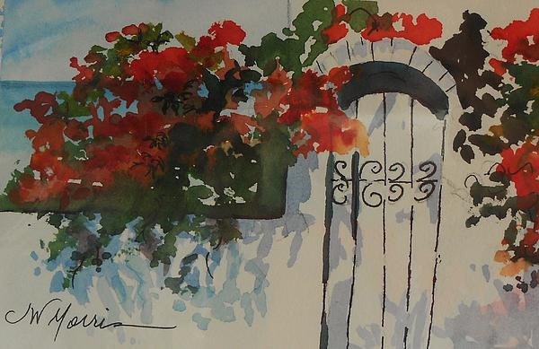 Bougainvillea Painting - Bougainvillea At My Beach Cottage by Jill Morris