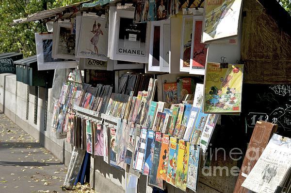 Paris Photograph - Bouquiniste Book Seller At Quays Of Seine Paris by Bernard Jaubert