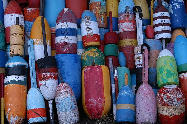 Seascape Photograph - Bouys No Gulls by Mike Martin