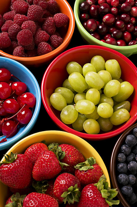 Fruit Bowls Photograph - Bowls Of Fruit by Garry Gay