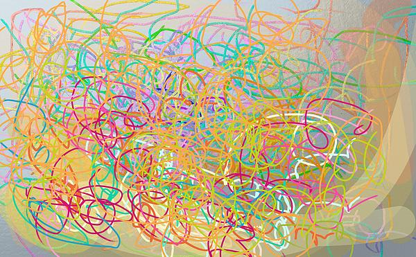 Abstract Painting - Bows And Flows Of Angel Hair by Naomi Jacobs