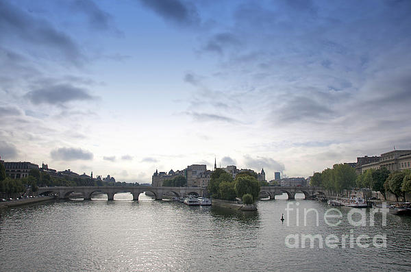 Paris Photograph - Bridges On River Seine. Paris. France by Bernard Jaubert