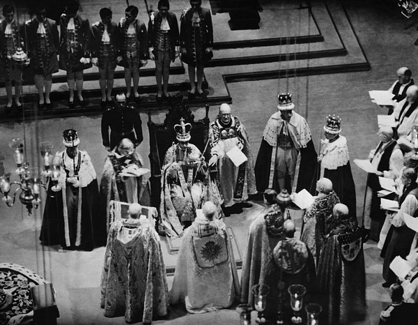 1930s Photograph - British Royalty. Center, On Throne King by Everett