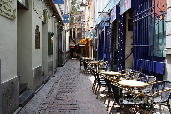 European Cafes Photograph - Brussels Side Street Cafe by Carol Groenen