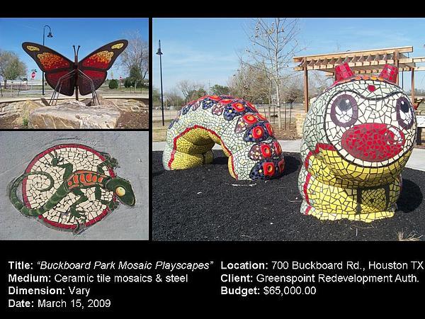 Ceramic Art - Buckboard Park Mosaic Playscape by Reginald Charles Adams