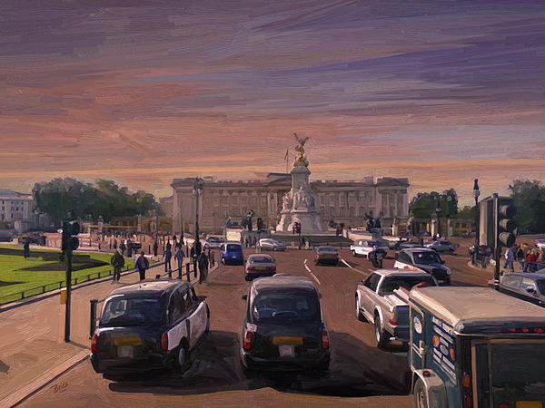 Buckingham Palace Painting - Buckingham Palace by Nop Briex