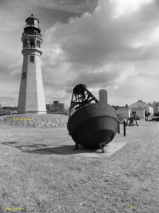 Lighthouse Buffalo Photograph - Buffalo Lighthouse And Bouy by Joseph Rennie
