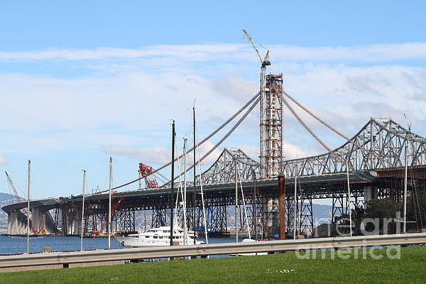 San Francisco Photograph - Building The New San Francisco Oakland Bay Bridge 7d7775 by Wingsdomain Art and Photography