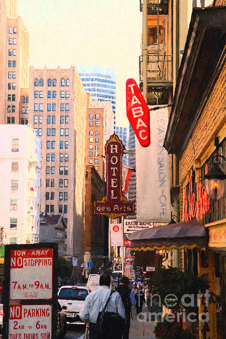 Sf Photograph - Bush Street In San Francisco by Wingsdomain Art and Photography