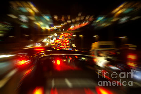Asphalt Photograph - Busy Highway by Carlos Caetano