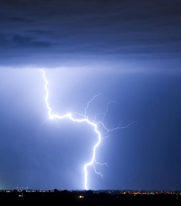 City Photograph - C2g Lightning Strike by James BO  Insogna