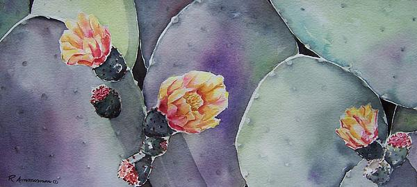 Cactus Painting - Cactus Bloom by Regina Ammerman