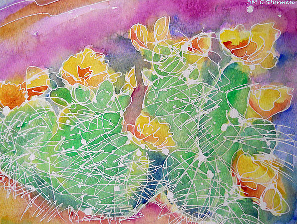 Cactus Mixed Media - Cactus Color by M C Sturman