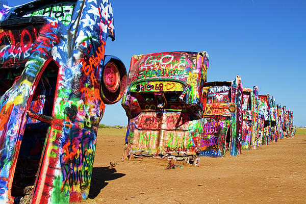 Amarillo Photograph - Cadillac Ranch 2  by Lana Trussell
