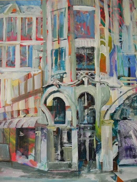 Cafe Painting - Cafe In Paris by Carol Mangano